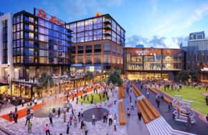 The Cordish Companies and St. Louis Cardinals recently broke ground on the $260 million expansion of Ballpark Village. The 700,000 square foot mixed-use development will complete a full build-out of Clark Street, transforming it into one of the most exciting city streets in all of professional sports. Artist rendering by Arnold Imaging. (PRNewsfoto/The Cordish Companies)